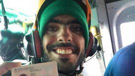 Joaquín Santos, fue rescatado tras estar 10 días perdido en la montaña