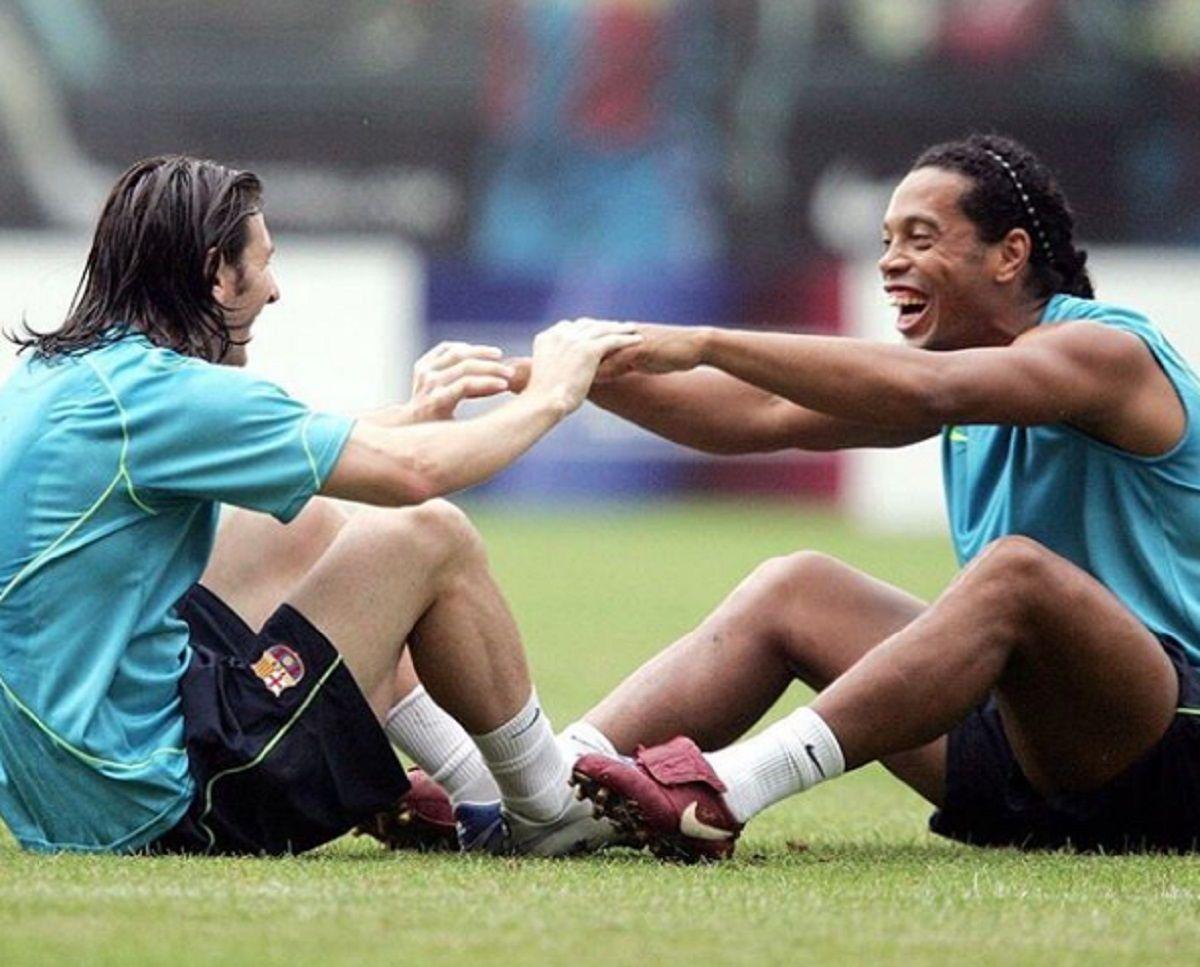 El argentino y el brasileño forjaron una gran relación en Barcelona