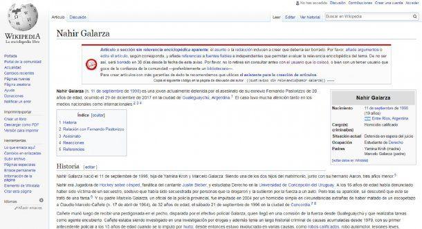 El perfil de Nahir en Wikipedia.
