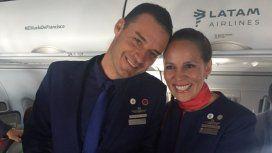 El Papa casó a una pareja en el avión que lo llevó a Iquique, Chile