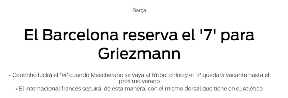 Barcelona le reservó la camiseta 7 a Antoine Griezmann, que llegaría en junio