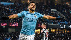 El Kun marcó los tres goles del triunfo del City