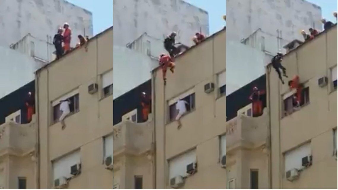 Bomberos salvaron a un hombre que quiso quitarse la vida