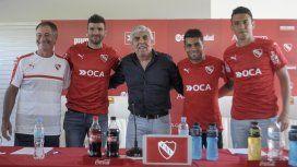 Holan, Gigliotti, Hugo Moyano, Erviti y Nery Domínguez a principios de 2017