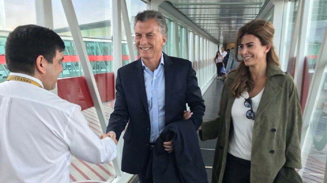 Mauricio Macri y Juliana Awada rumbo a la gira