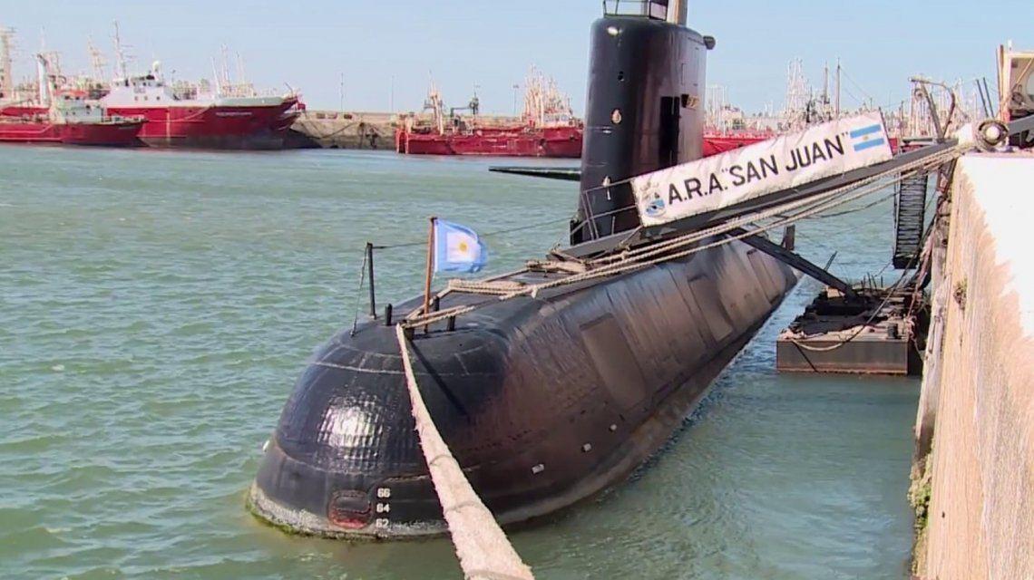 Submarino ARA San Juan. Foto: Ministerio de Defensa.