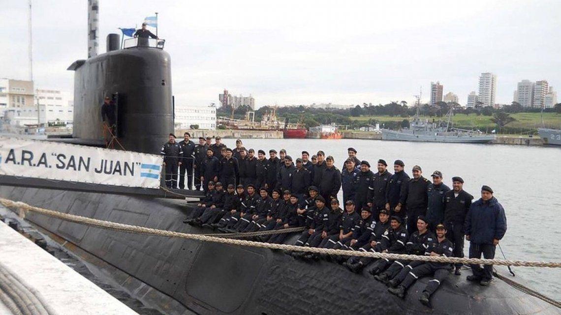 La última foto conocida hasta ahora de la tripulación completa del ARA San Juan.