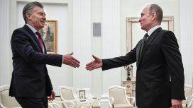 Mauricio Macri y el presidente Ruso Vladimir Putin