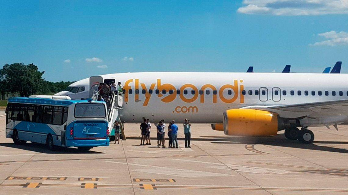 Córdoba: un vuelo de FlyBondi tuvo que hacer un aterrizaje de emergencia por una falla técnica