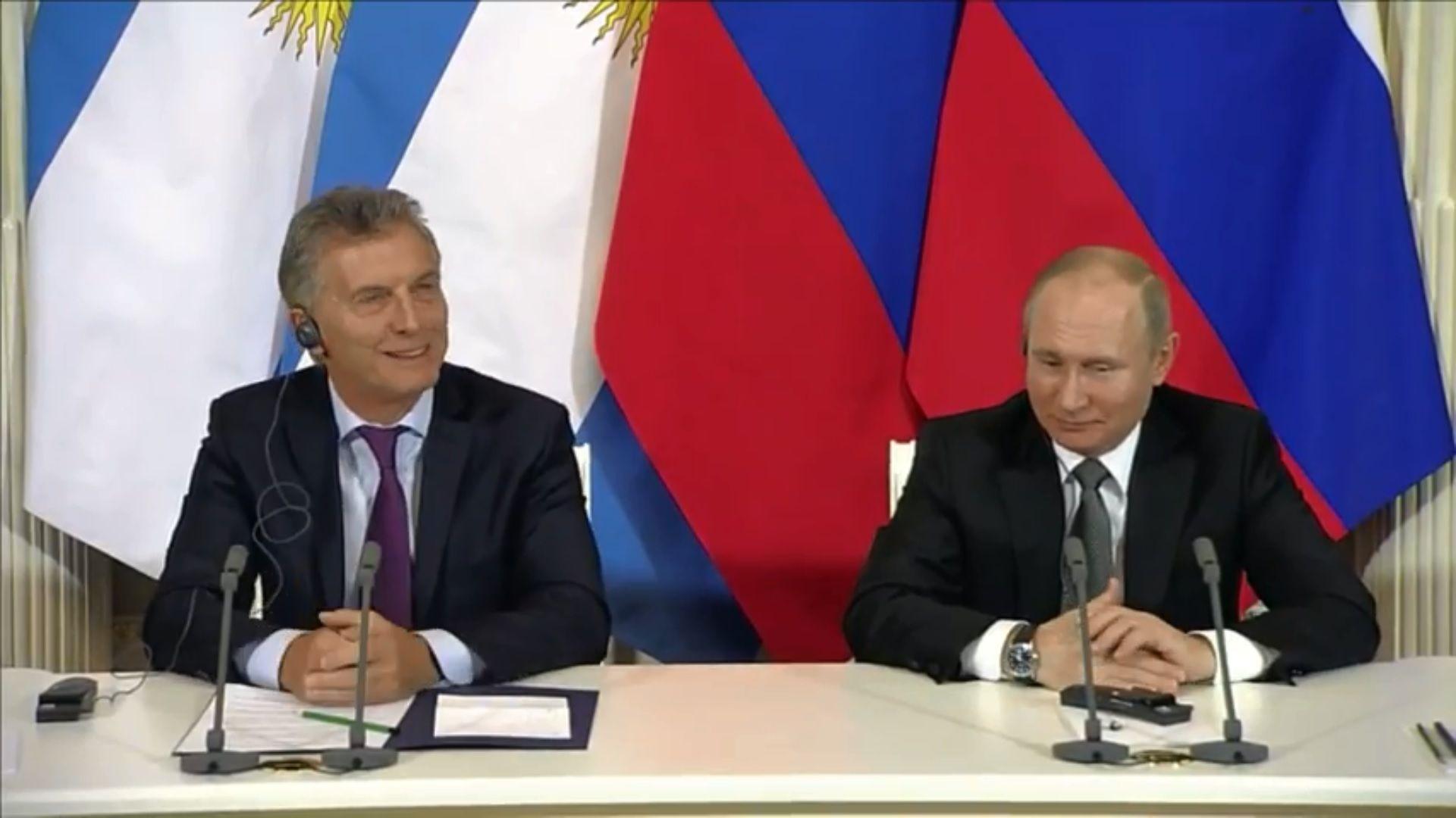 Invitado por Putin, Macri irá al Mundial de Rusia: Espero que tengamos más suerte que en Brasil