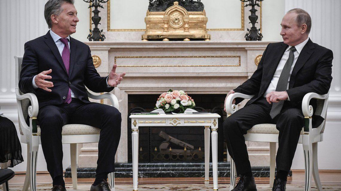 Vladimir Putin recibió a Mauricio Macri en el Kremlin.