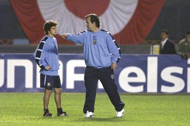 Pablo Aimar y Marcelo Bielsa