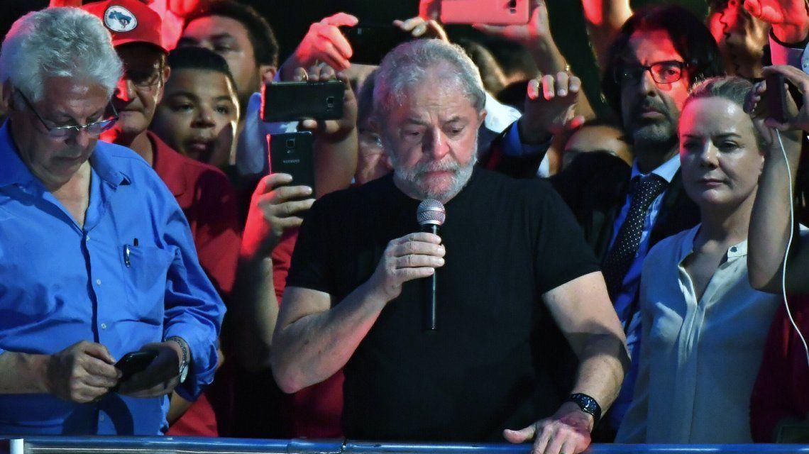 Lula durante un acto en San Pablo