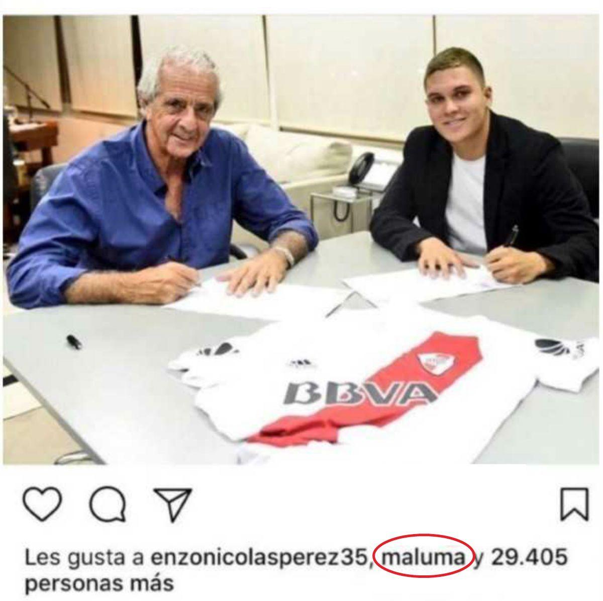 El like de Maluma en Instagram