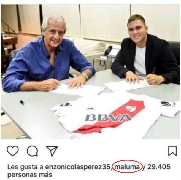 El like de Maluma en Instagram<br>