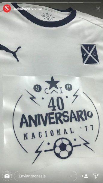 Parche de la camiseta de Independiente