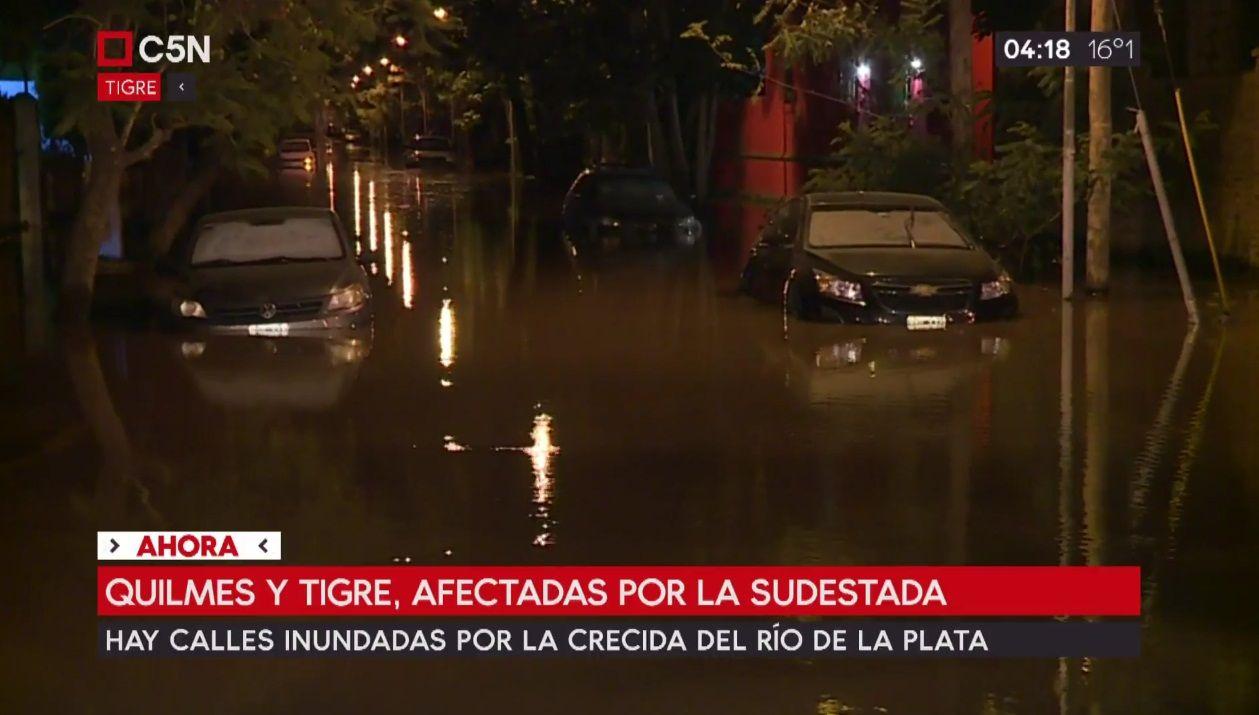 Sudestada en Quilmes