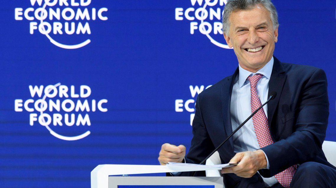 Mauricio Macri en la sesión plenaria del encuentro anual delForo Económico Mundial