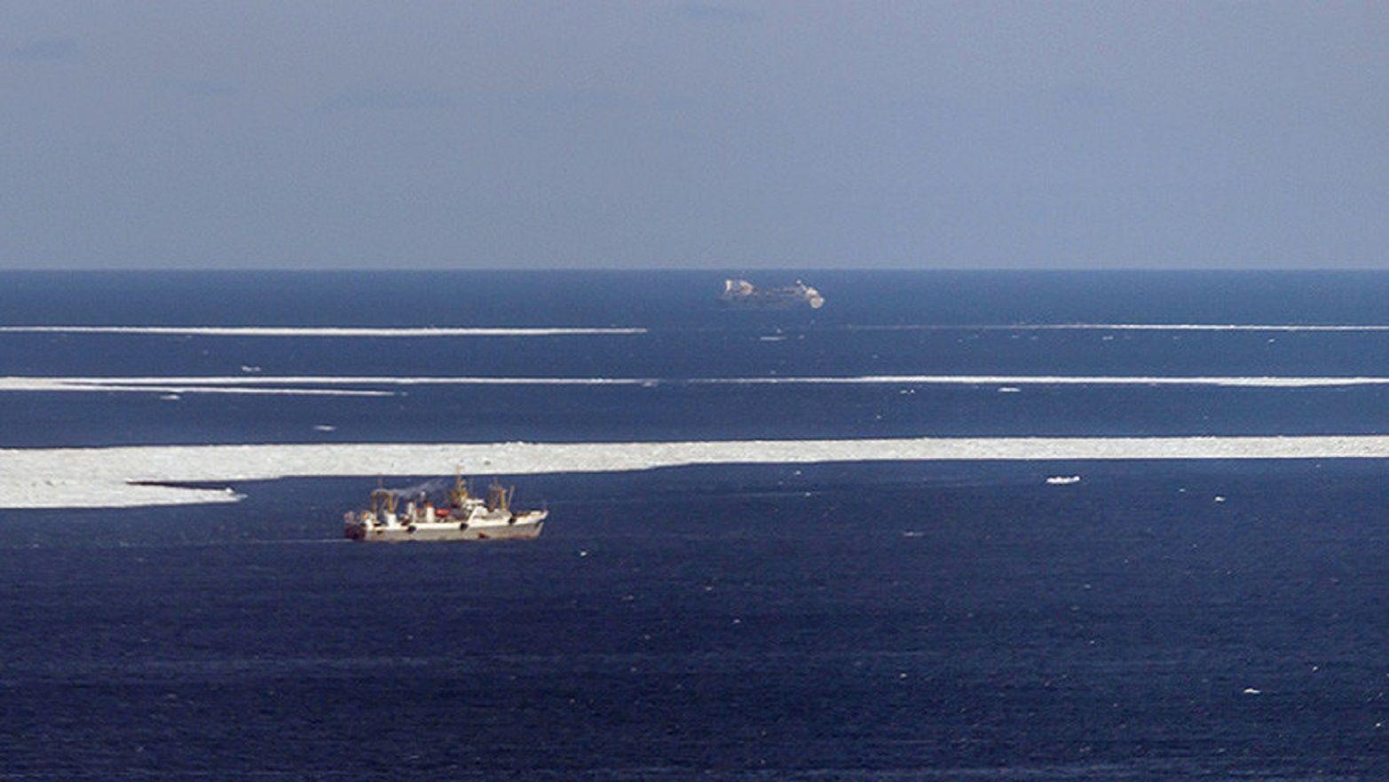 Operación de búsqueda del barco pesquero ruso Vostok.