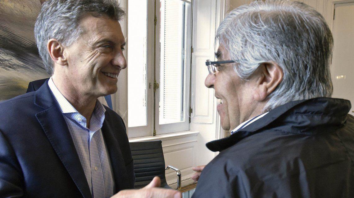 Macri junto con Moyano