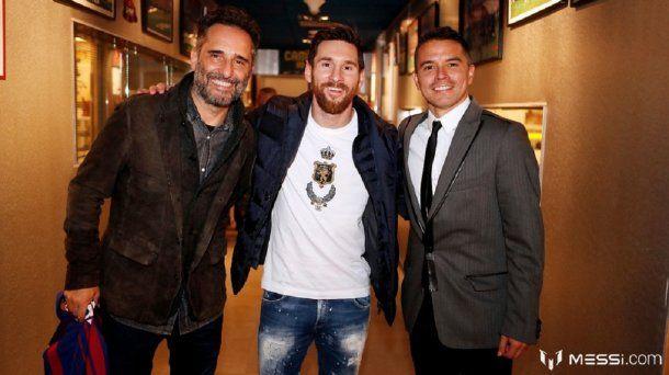 Jorge Drexler, Lionel Messi y Javier Saviola