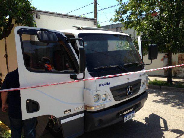 El camión repartidor que fue asaltado<br>