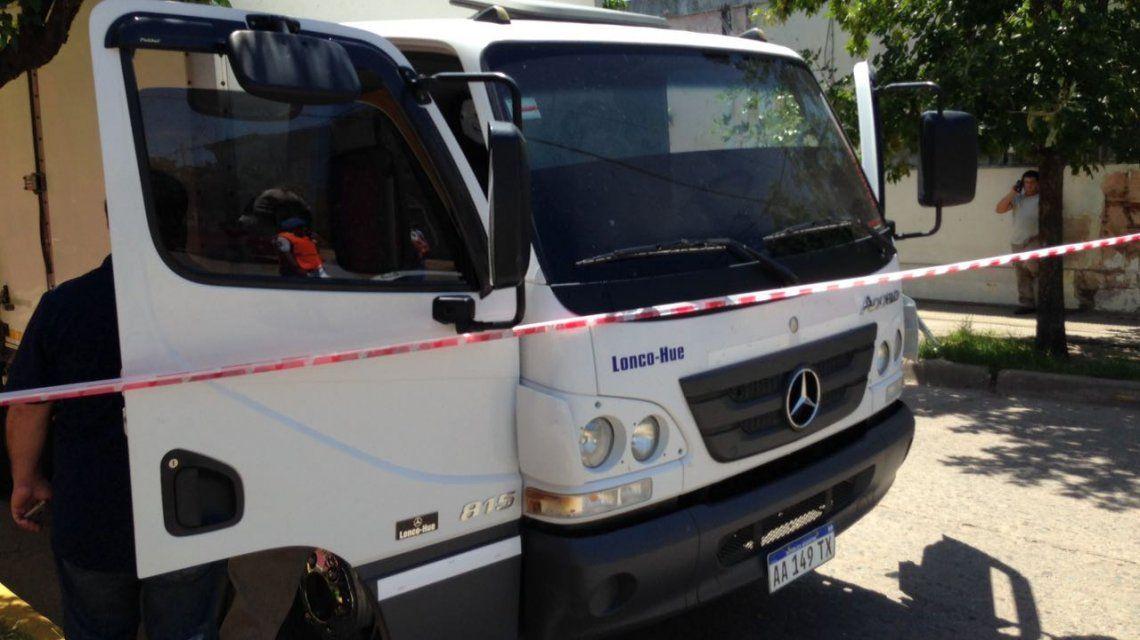 El camión repartidor que fue asaltado