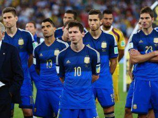 Argentina tras perder la final ante Alemania.
