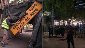 Desalojo a veteranos de Malvinas en Plaza de Mayo