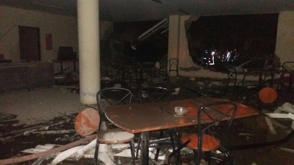 La central de policía quedó arrasada en un 95 por ciento