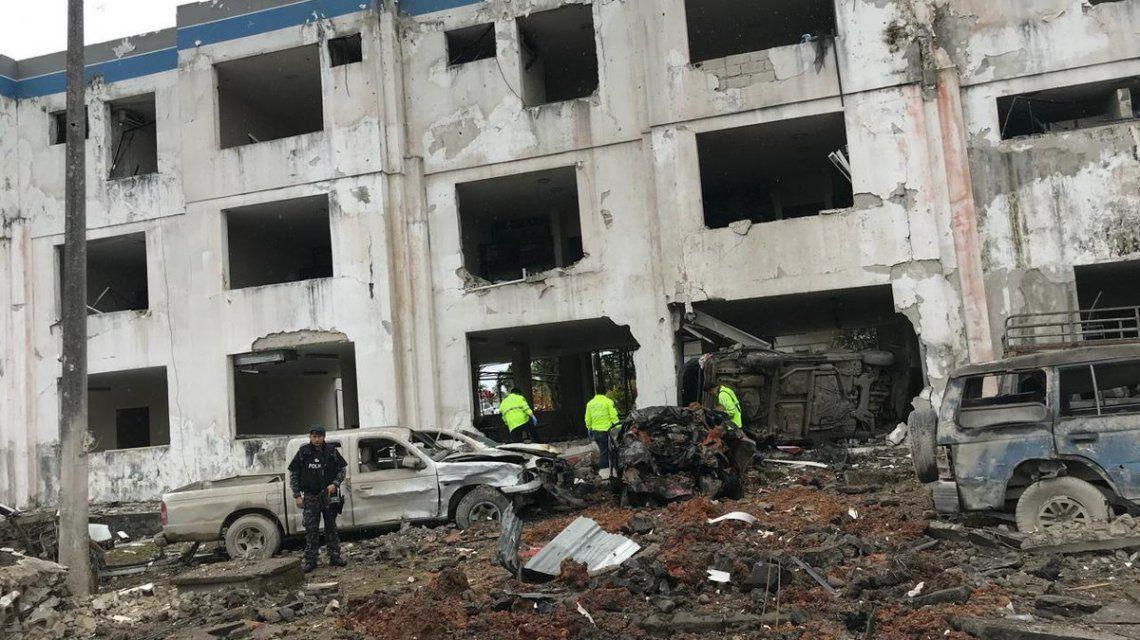 El edificio quedó destruido pero sólo hubo 23 heridos leves