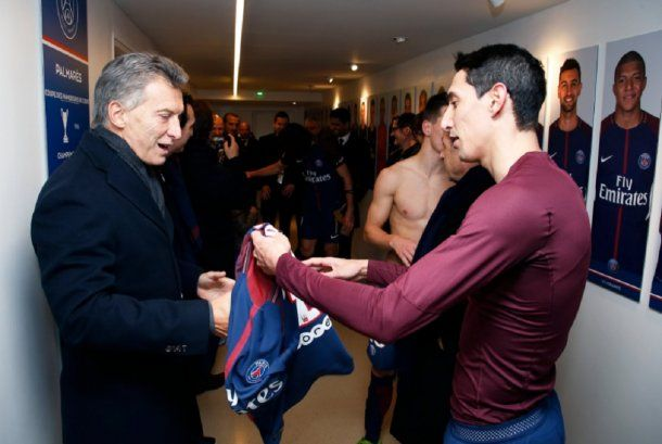 Macri visitó a Di María en el Paris Saint Germain - Crédito: @PSG_inside
