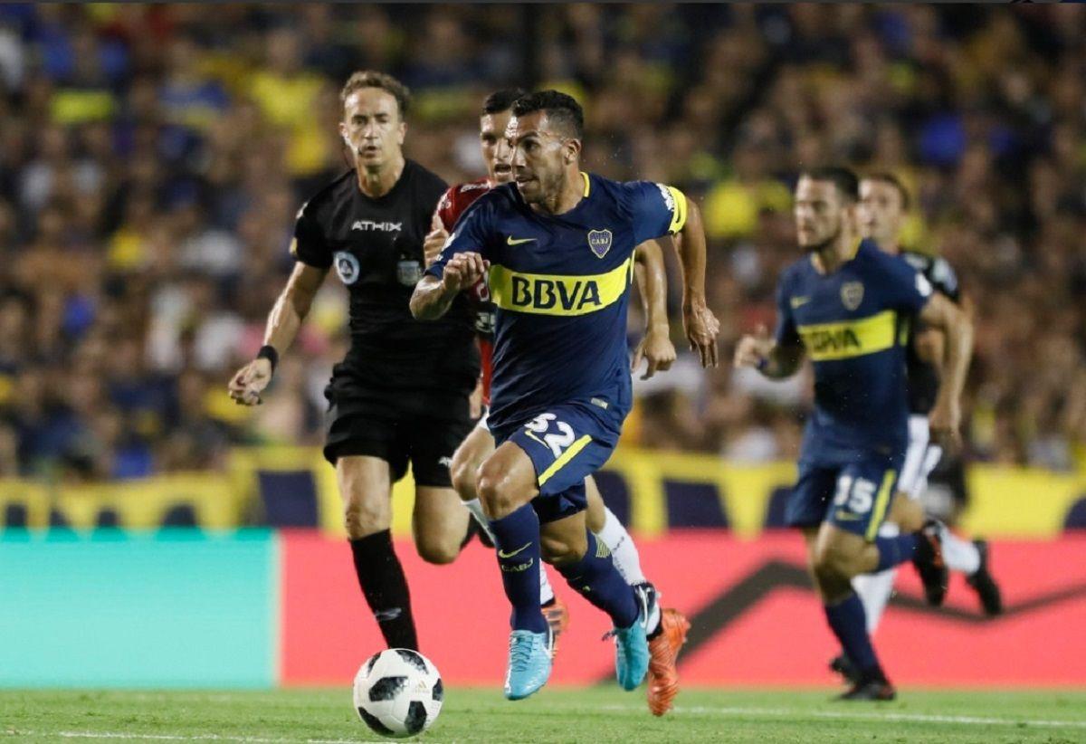 Carlos Tevez en Boca - Crédito:@BocaJrsOficial
