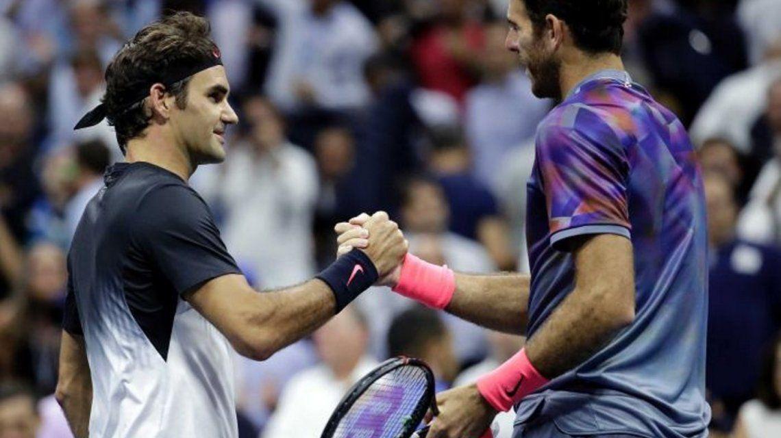 El saludo de Del Potro a Federer tras la final del Abierto de Australia