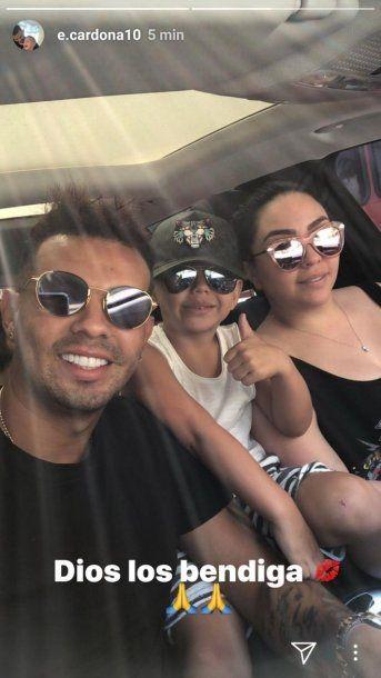 Cardona se mostró con su esposa en Instagram - Crédito: e.cardona10<div><br></div>