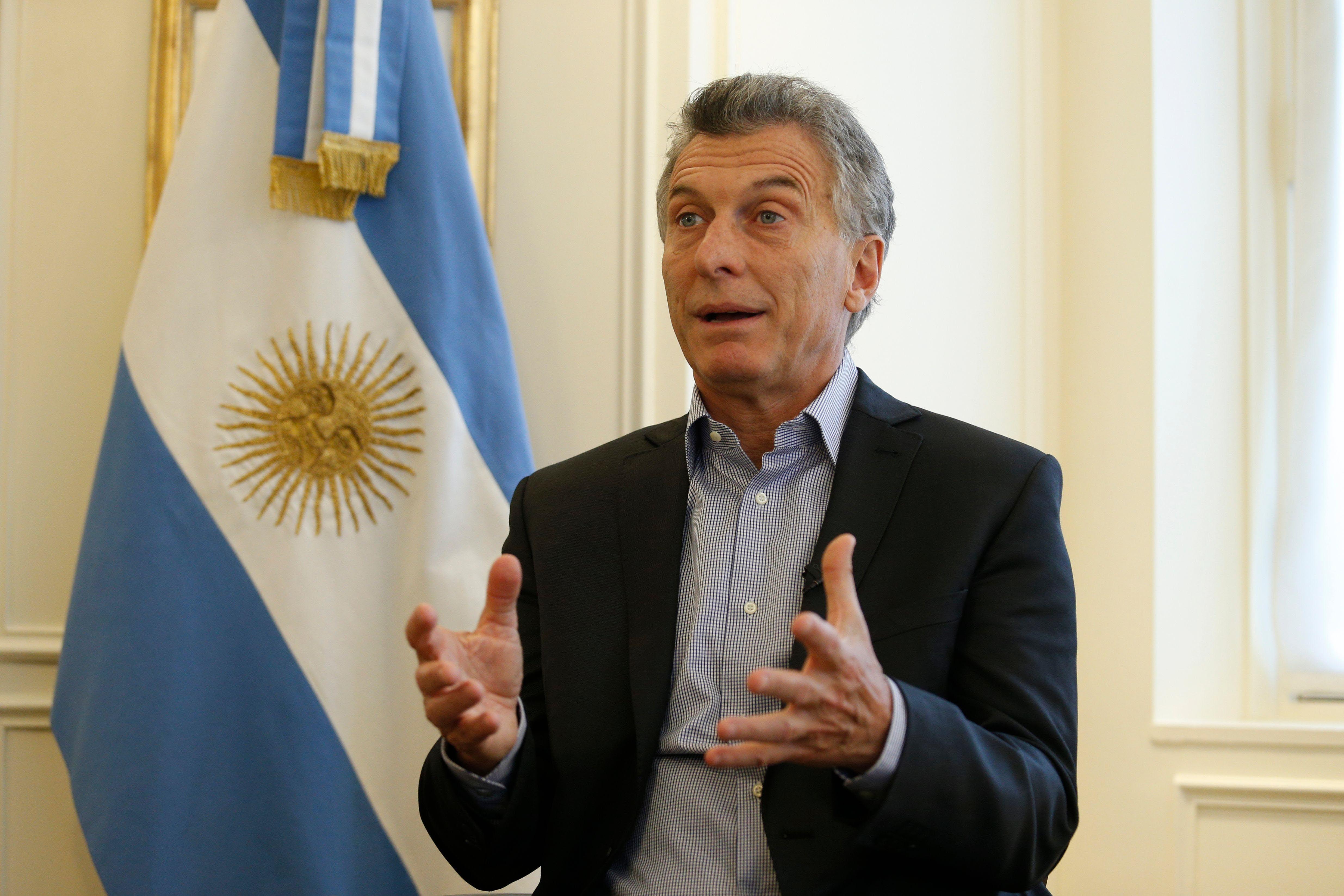 Mauricio Macri en una entrevista