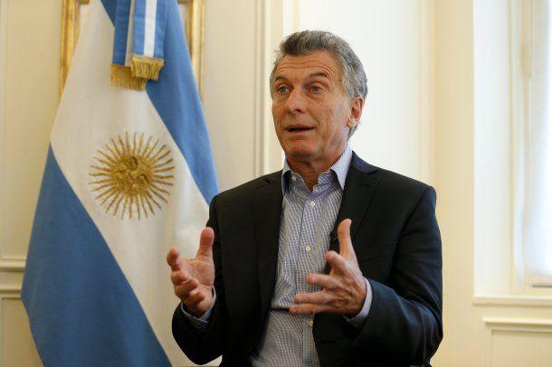 Mauricio Macri en una entrevista<br>