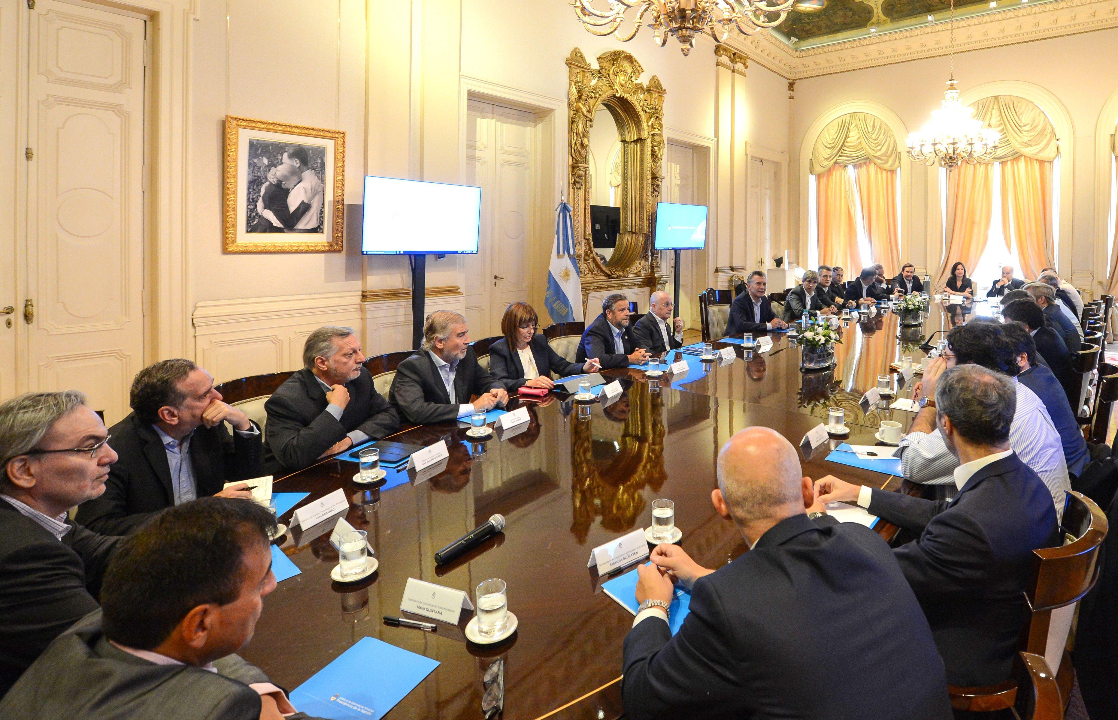 Reunión del Gabinete de Mauricio Macri
