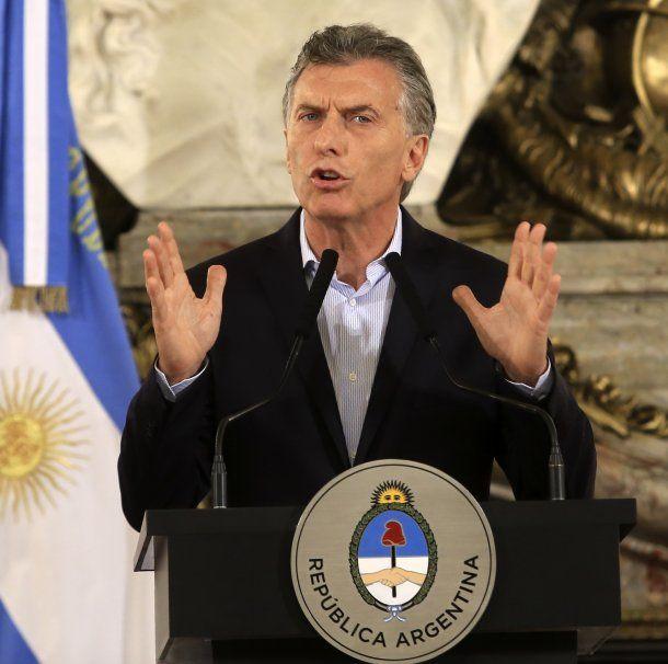 Mauricio Macri en Casa Rosada<br>