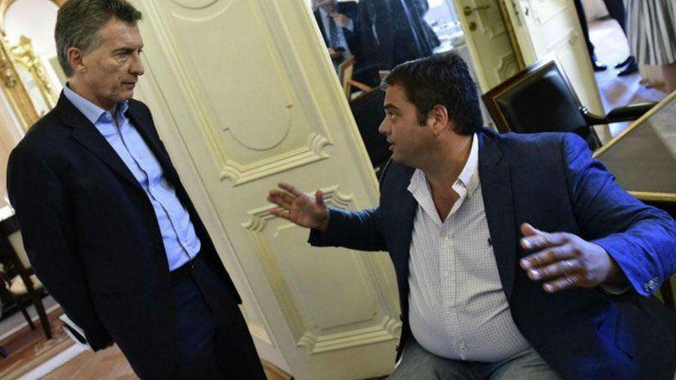 Mauricio Macri con Jorge Triaca