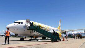 El primer avión de Flybondi tiene capacidad para 189 pasajeros.