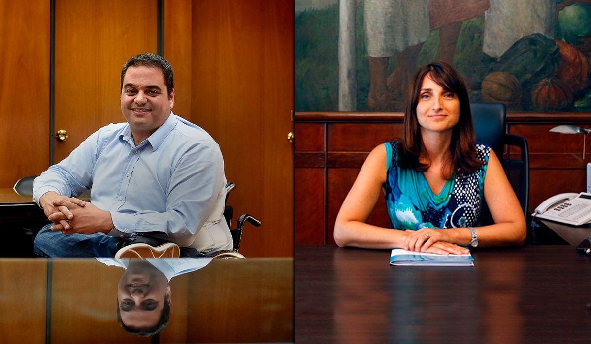 Jorge Triaca y María Cecilia Loccisano
