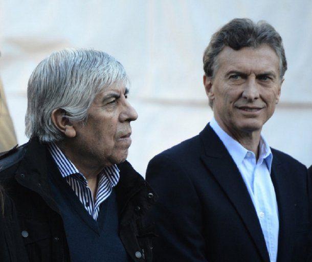 Hugo Moyano y Mauricio Macri<br>
