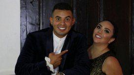 Edwin Cardona con su mujer