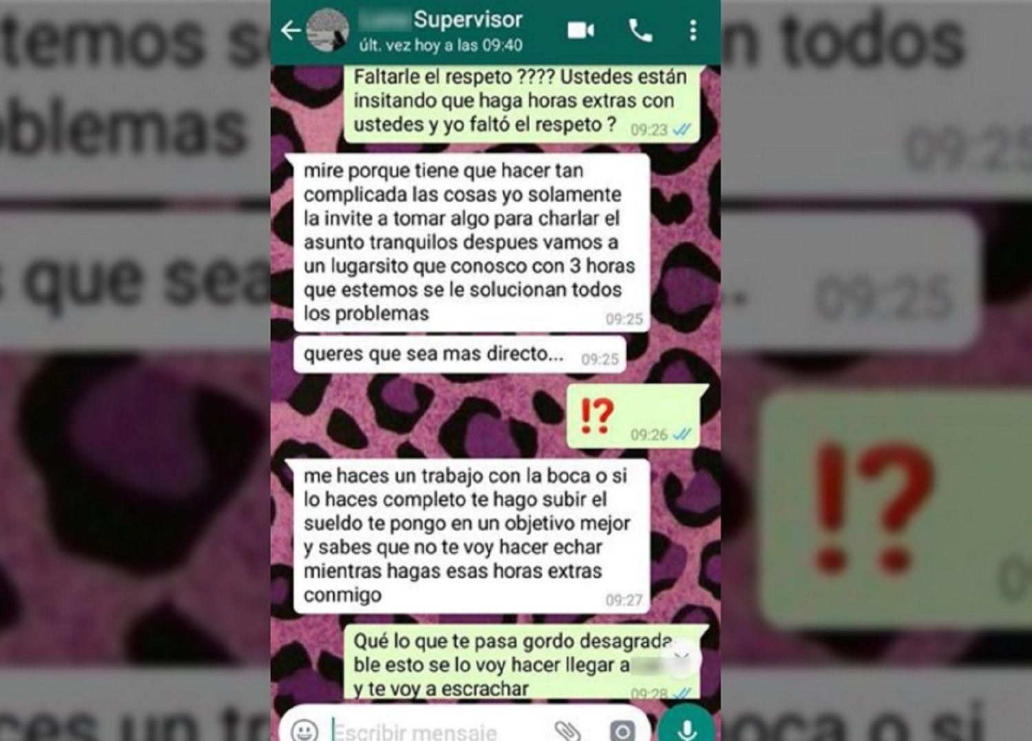Las capturas de WhatsApp fueron publicadas en las redes sociales por un amigo de la víctima.