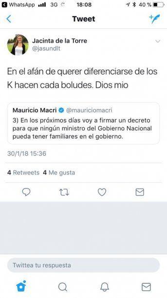 De la Torre, taxativa con la nueva medida de Macri