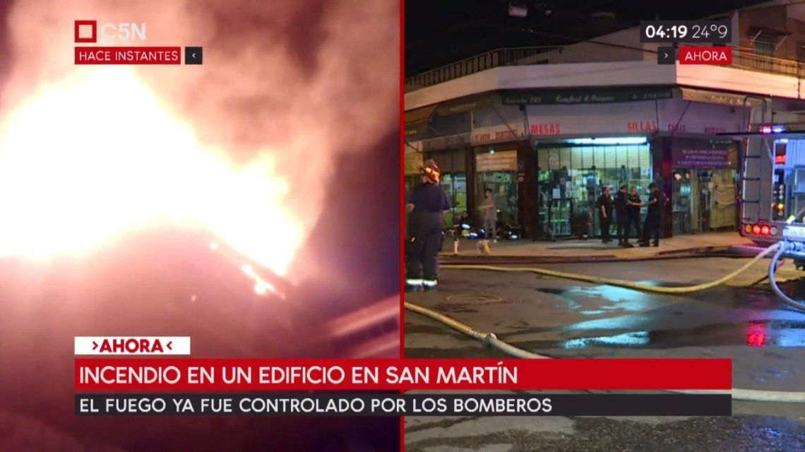 Incendio en San Martín