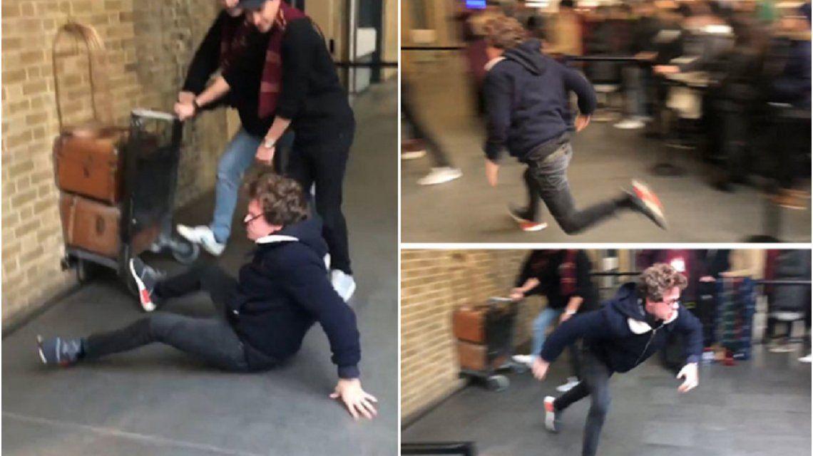Fan de Harry Potter intentó tomar el tren a Hogwarts y esto le pasó