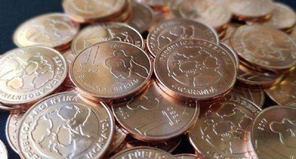 <p>Las nuevas monedad de un peso</p>