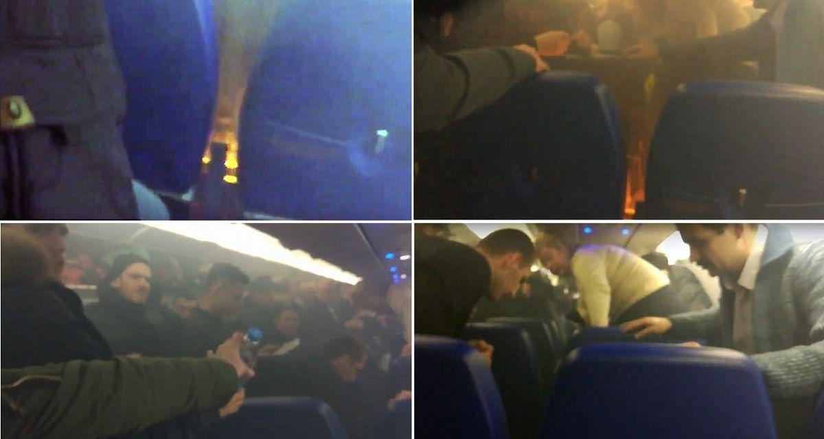 VIDEO: Un incendio dentro de un avión repleto de pasajeros desata el pánico en Rusia
